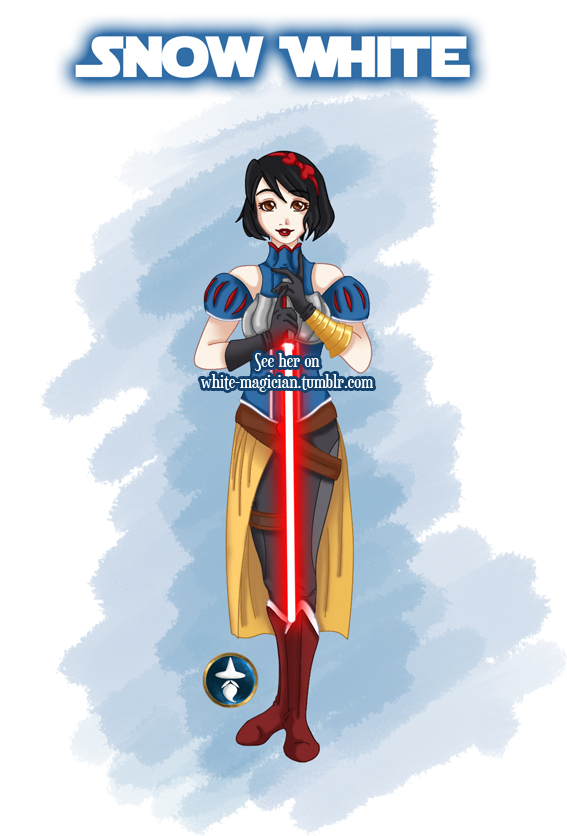 Jedi Disney Princess Snow White by White-Magician