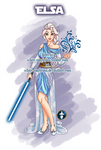 Jedi Disney Princess Elsa