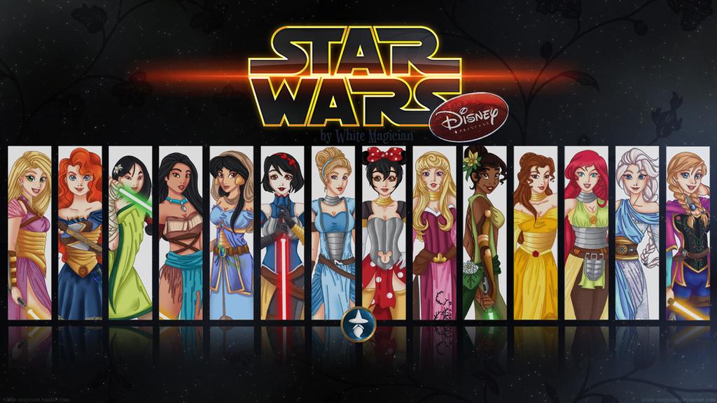 Disney Jedi mistresses Wallpaper by White-Magician