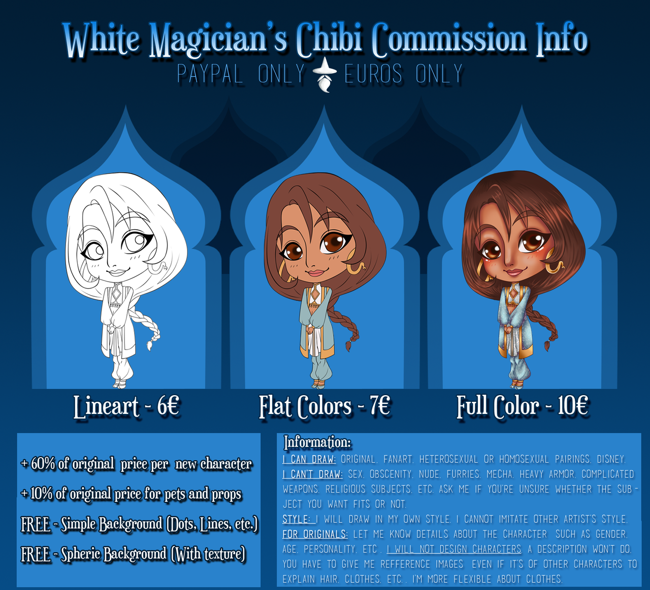 Chibi Commission Prices by White-Magician