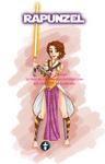 Disney Jedi Princess Brunette!Rapunzel