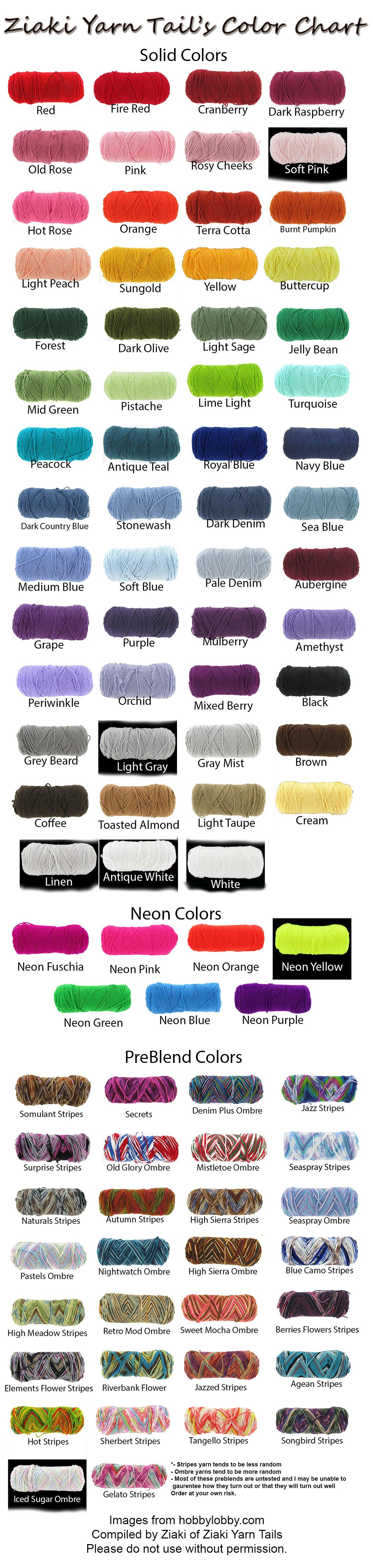 Multi color Custom yarn tails