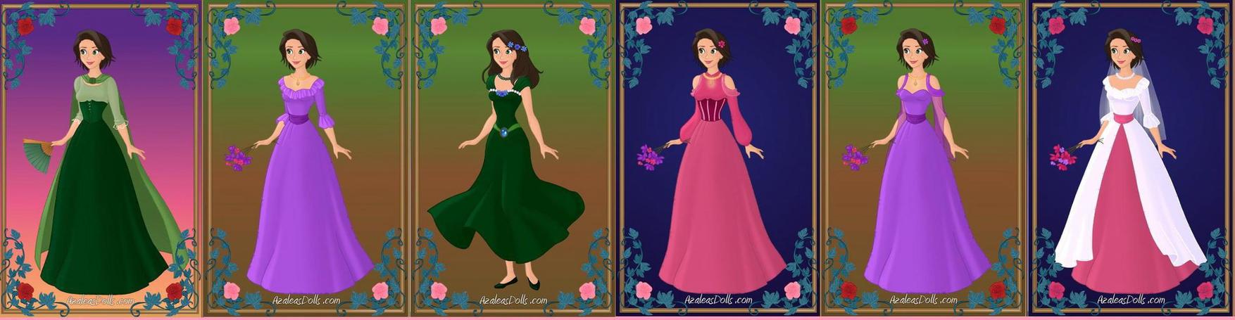 New Dress Designs for Rapunzel by ArielxJim08