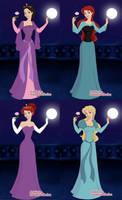 Disney and Non-Disney Princess Collage
