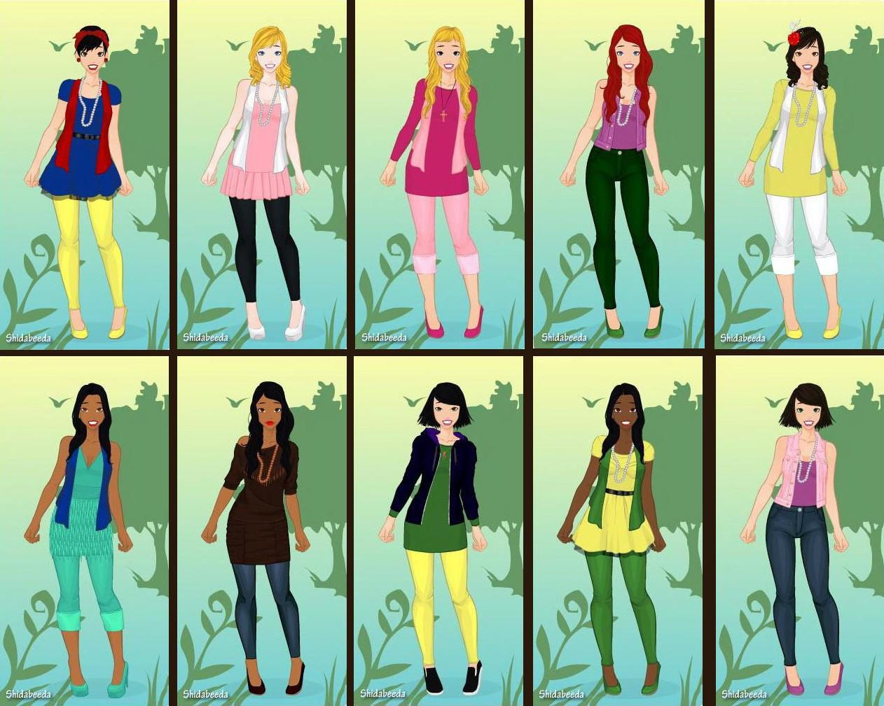 Modern Disney Princesses by ArielxJim08 on DeviantArt