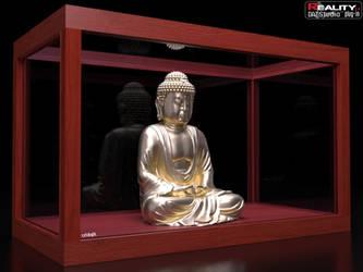 Gold Buddha on Display by cridgit
