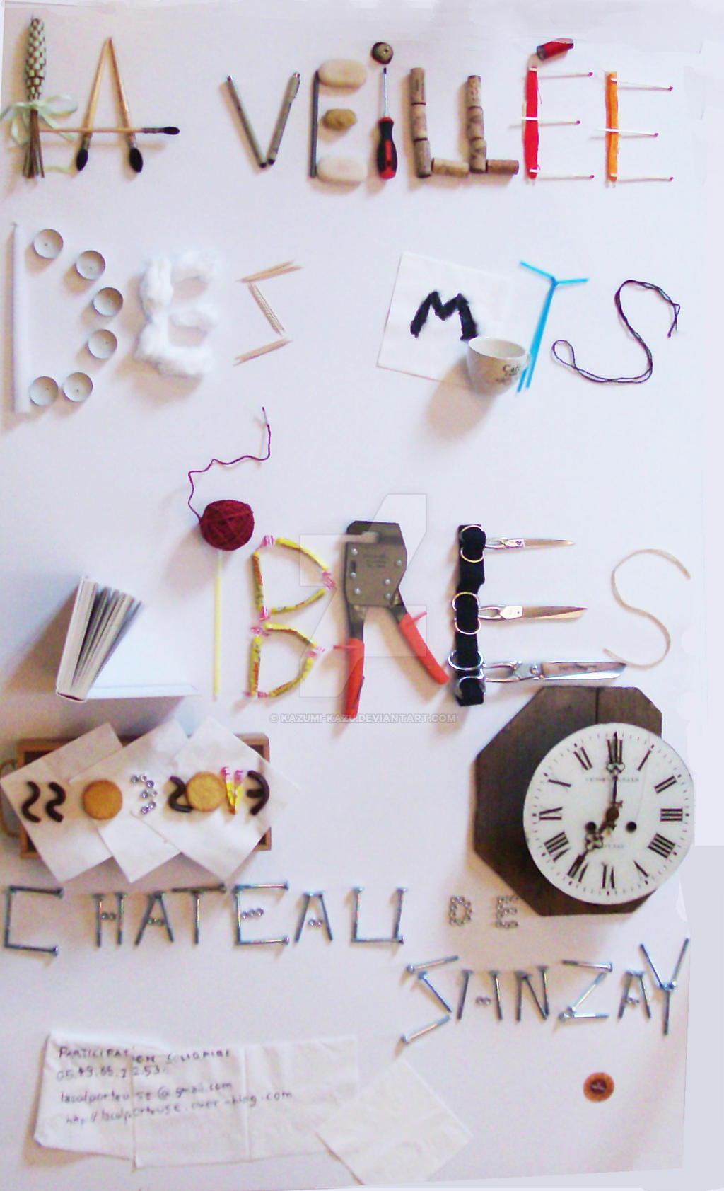 Affiche Typographie objets by Kazumi-Kazu