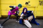 Raven and Beast Boy - Teen Titans