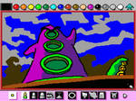 Mario Paint: Purple Tentacle