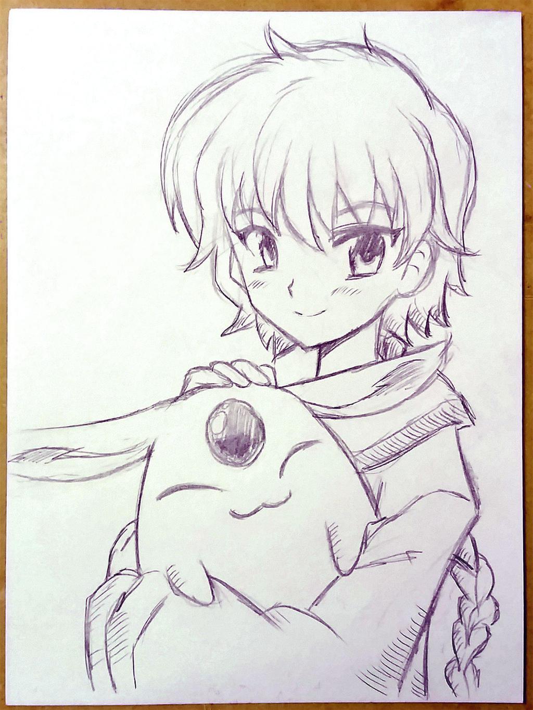 Hikaru and Mokona by emiliosan