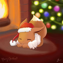 Christmas Eevee by emiliosan