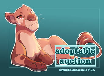 [CLOSED] Pink Sparkly Lioness Auction by ProudLandsComic