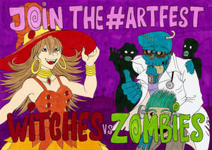 Artfest Witches vs Zombies