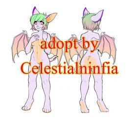 Cutie Pinkie Bat $8 Adopt--OPEN by CelestialNinfia