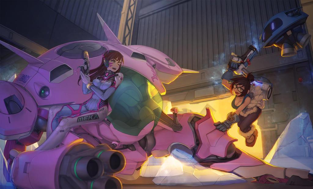 Mei vs D.VA by Rotix102