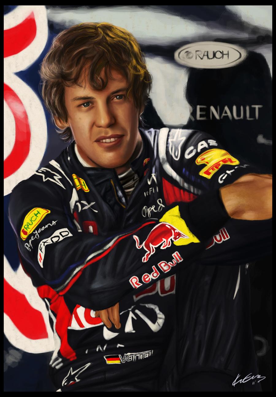 Sebastian Vettel by EvaKedves