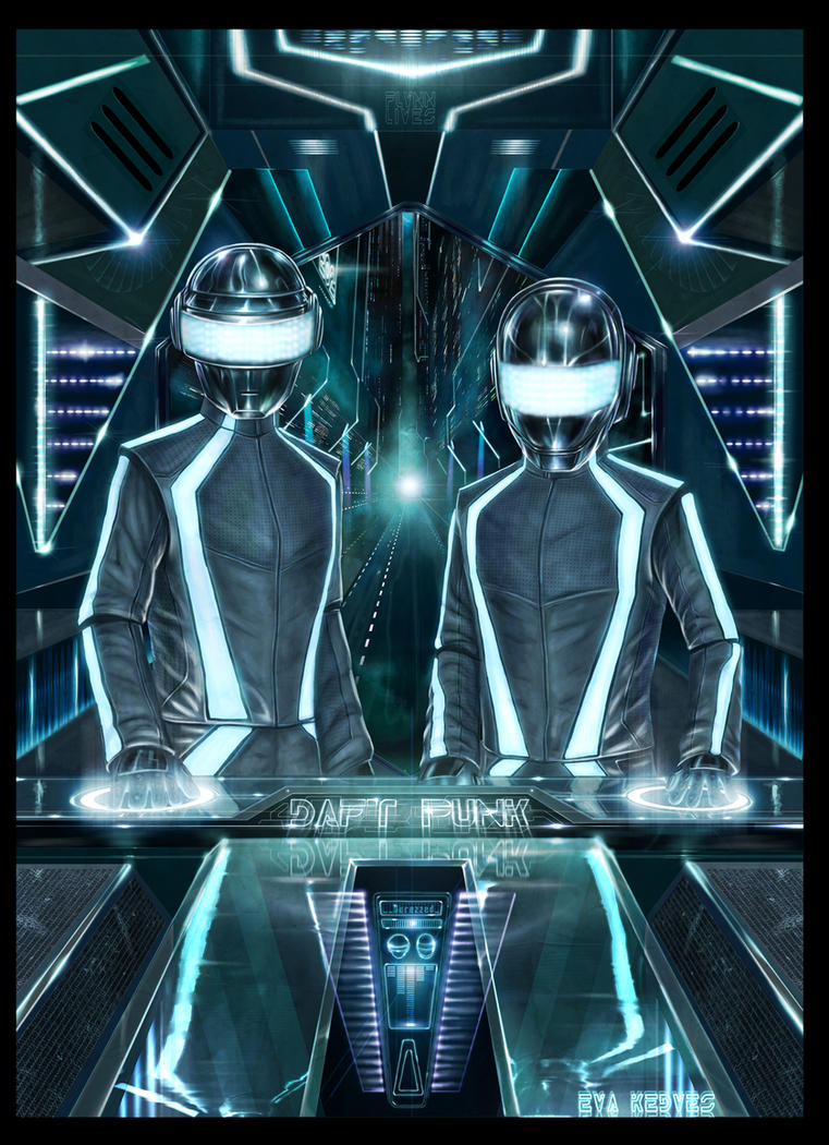 Tron: Legacy Daft Punk by EvaKedves.deviantart.com