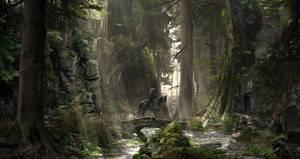 Travelling through the dwarf's village