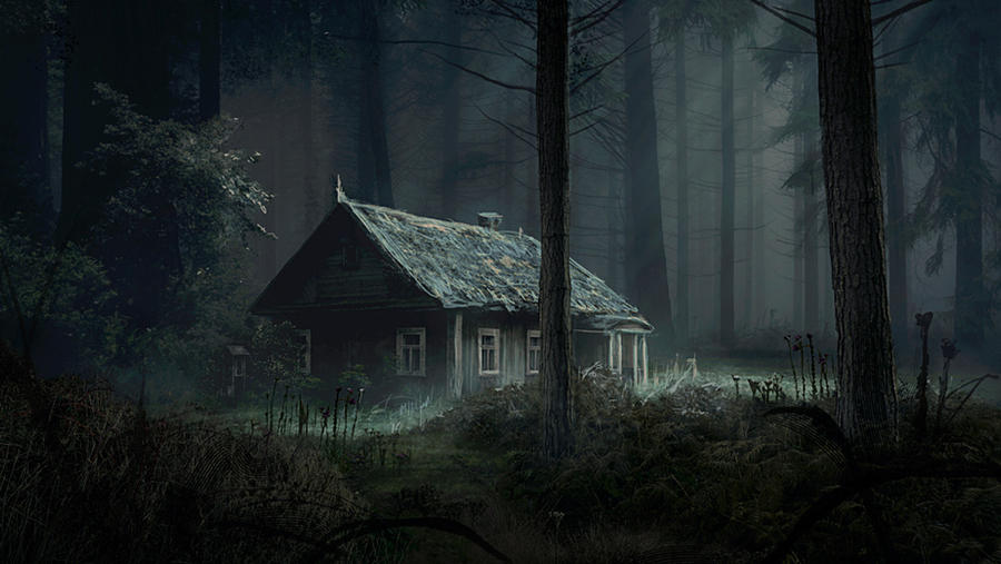 The cabin in the woods by evakedves on deviantart for The girl in the cabin