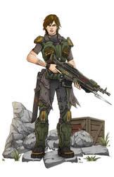 Gears of War: Drasha Lenzt by pax112