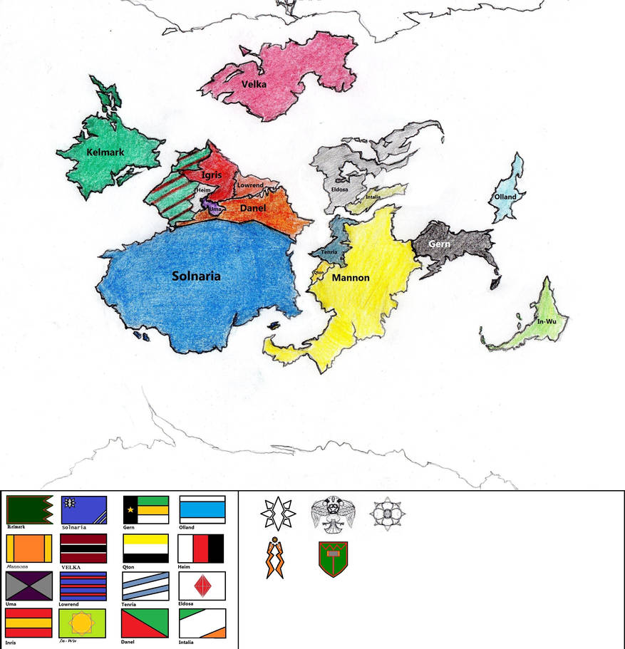 My Final Fantasy: World Map of Terranine by avenger09 on ...