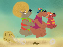 The Hair Bear Bunch by Makinita