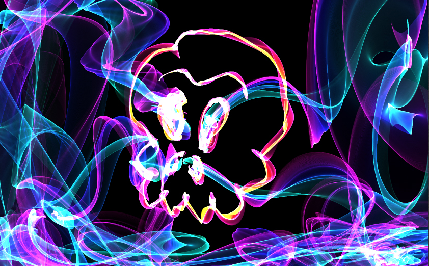 smoked skull by Makinita