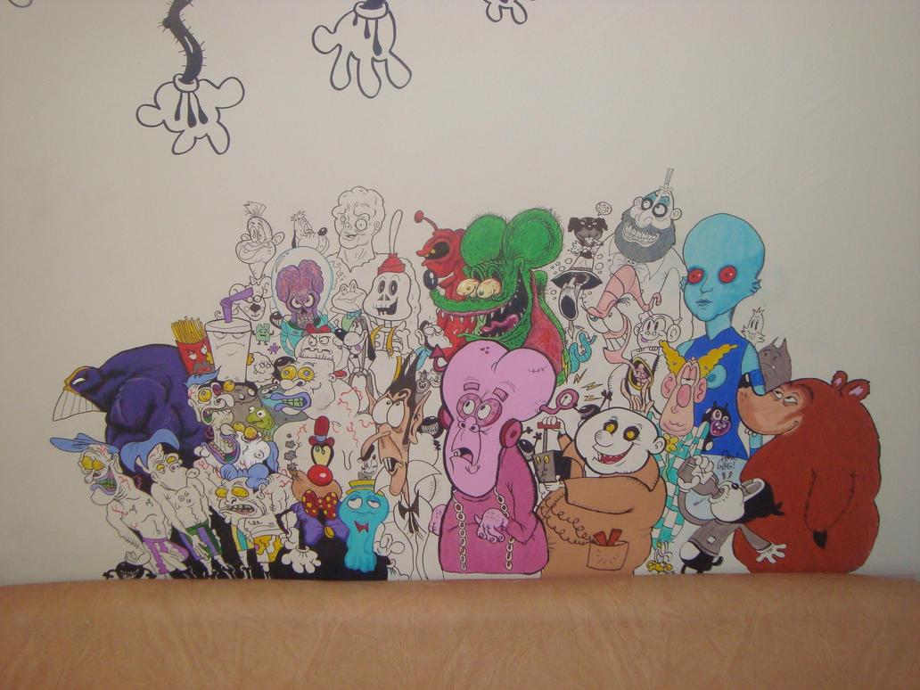 New cartoon mural by makinita on deviantart for Cartoon mural painting