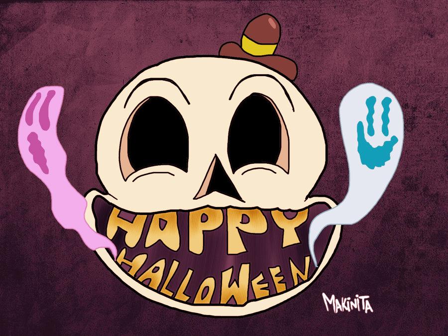 Happy Skull by Makinita by Makinita