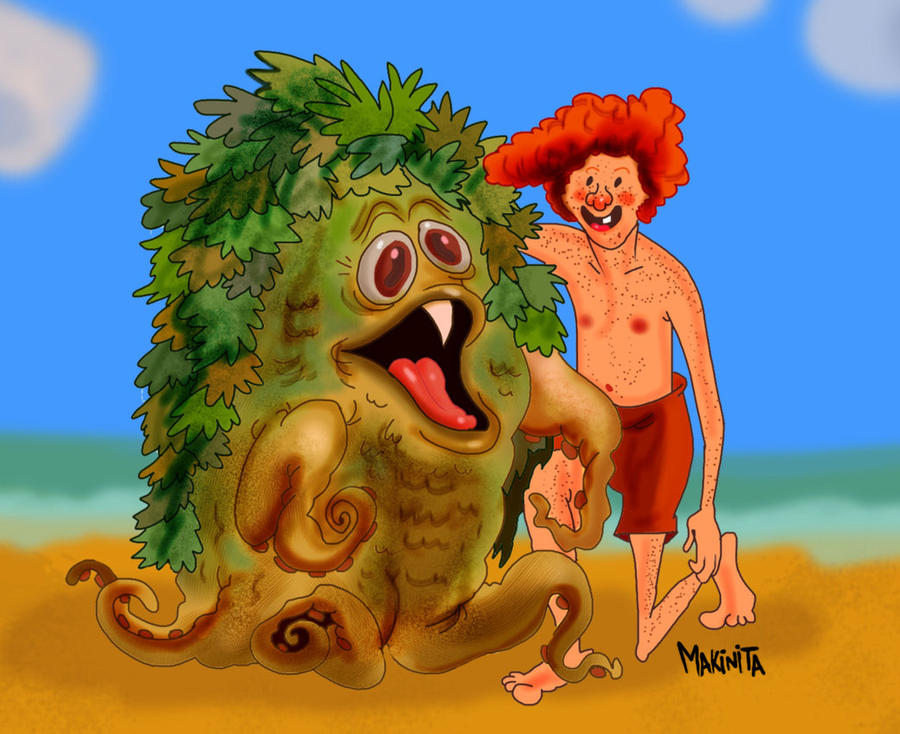 Sigmund at the beach by Makinita