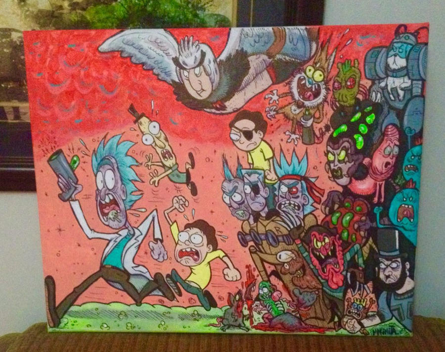 Rick and Morty by Makinita