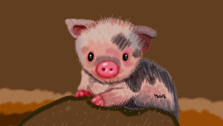 Baby Pig by Makinita