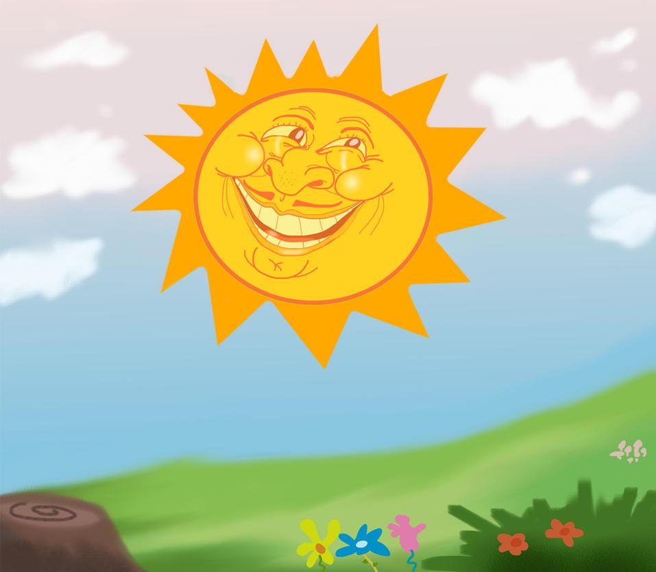 Sunny hill by Makinita