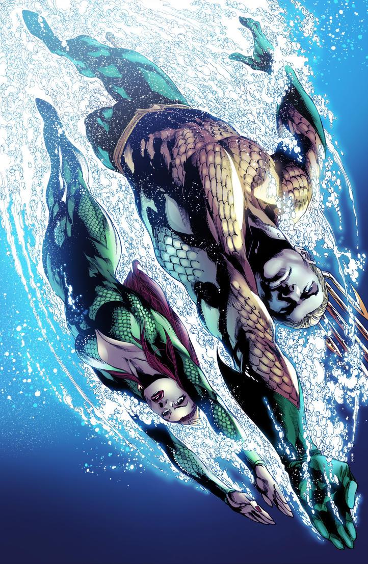 Aquaman and Mera by adrianocastro