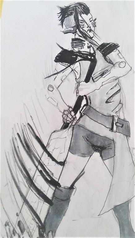 Sketchy cyberpunk by zathraya