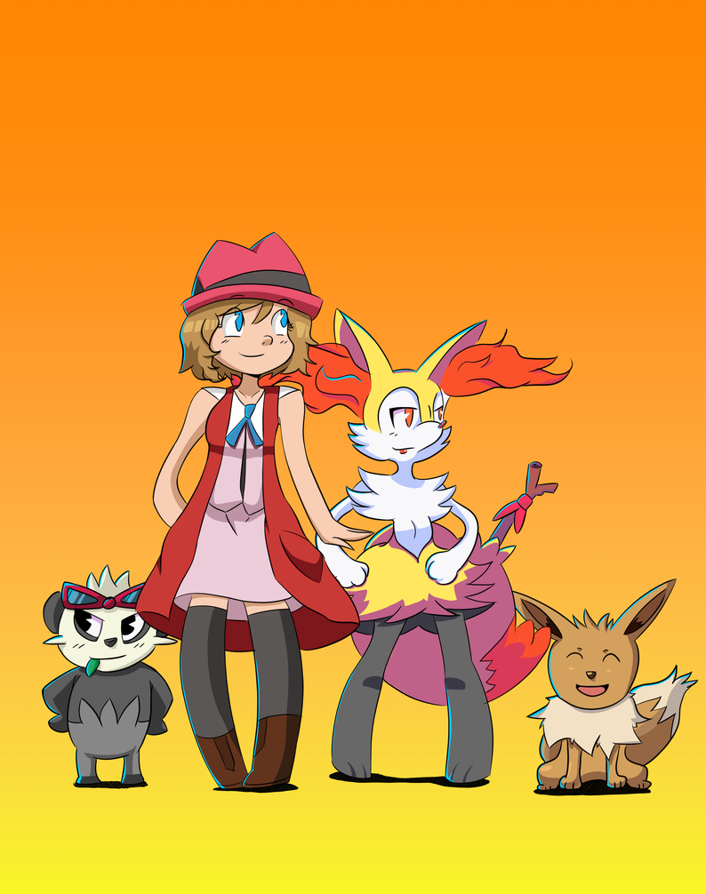 Serena and her pokemons by donicx1