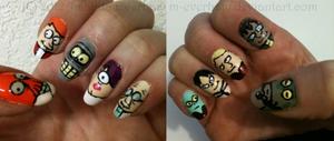 Futurama Nails by M-Everham