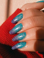 Turquoise and Purple Holo Gradient by M-Everham