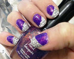 Neon Purple with Black and White Stamping