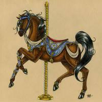 Carousel Horse-Topaz by M-Everham