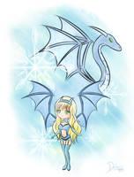 Shironya - Ice Dragon by Daheji