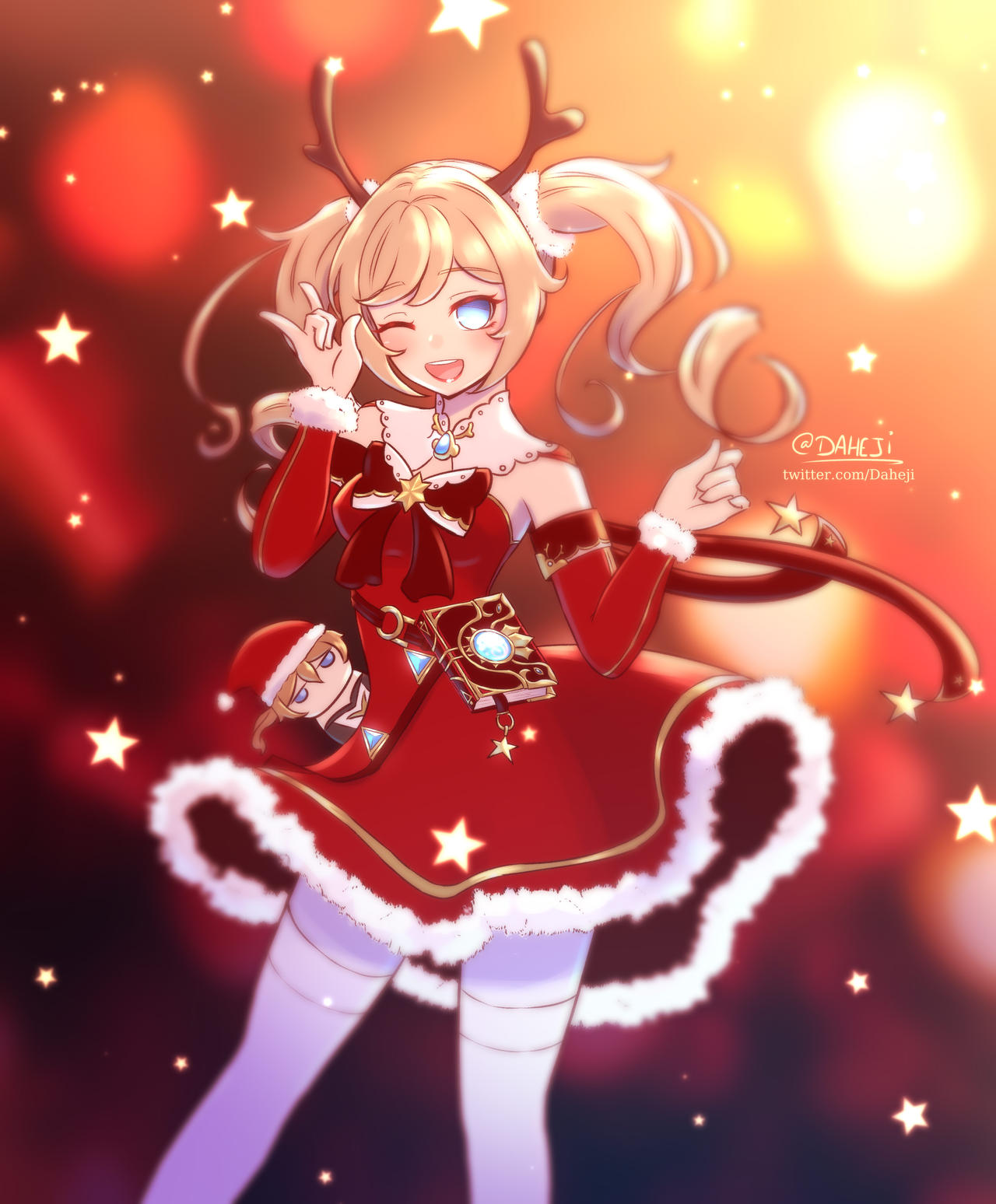 Genshin Impact Barbara Christmas