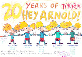 Twenty years of Hey Arnold! by LauMari