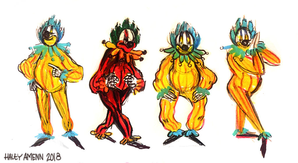 Clown lineup by Inprismed