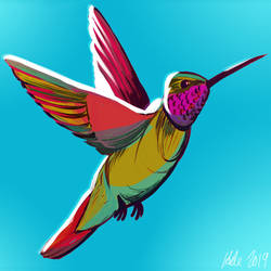Hummingbird Icon by Inprismed
