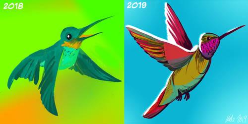 Hummingbird 2018 vs 2019 by Inprismed