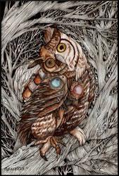 Mechanical Owl by Azazel03