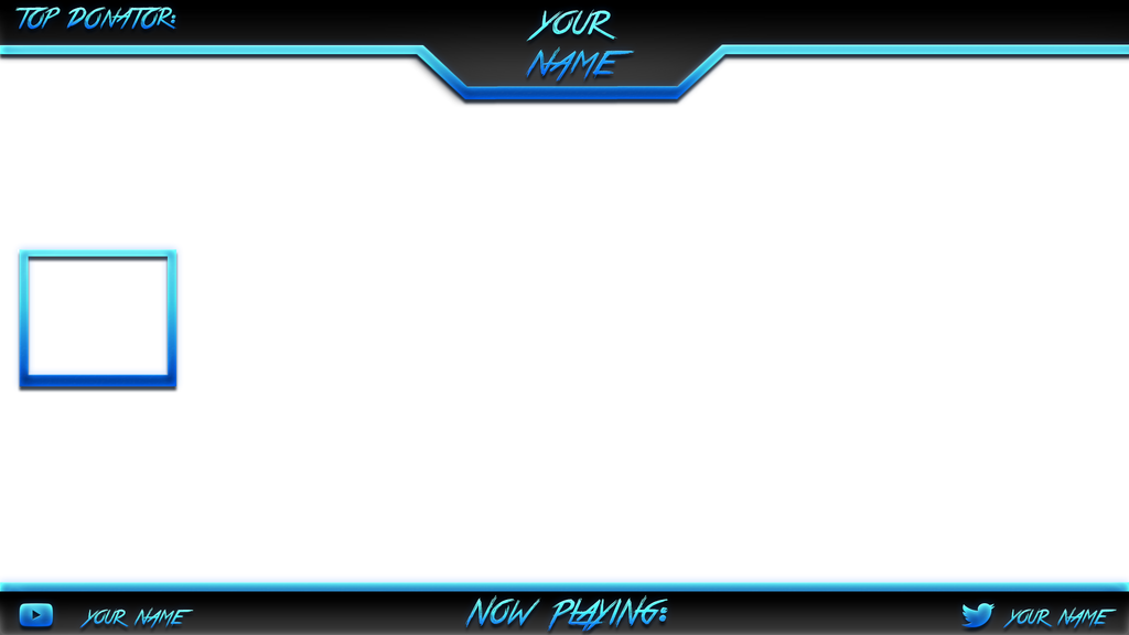free twitch overlay template - overlay template blue by chunkydruffy on deviantart