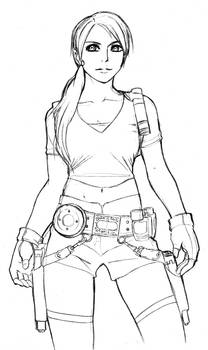 sketch: Lara Croft Tomb Raider