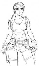 sketch: Lara Croft Tomb Raider by mazjojo
